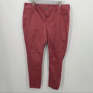 Maurices Jeggings Stretchy Dusty Rose Size XL